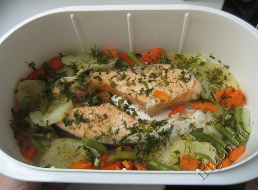 рыба в пароварке рецепты фото рецепты