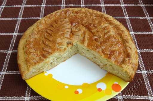 фотография пирога с капустой