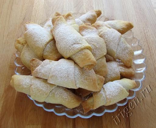 Рецепт рогалики со сгущенкой