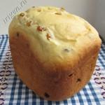 сдобный хлеб на молоке с изюмом