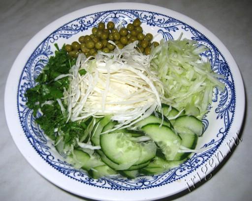 овощи, приготовленные с помощью терки Бёрнера