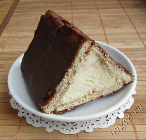 пирог из творога и печенья в духовке