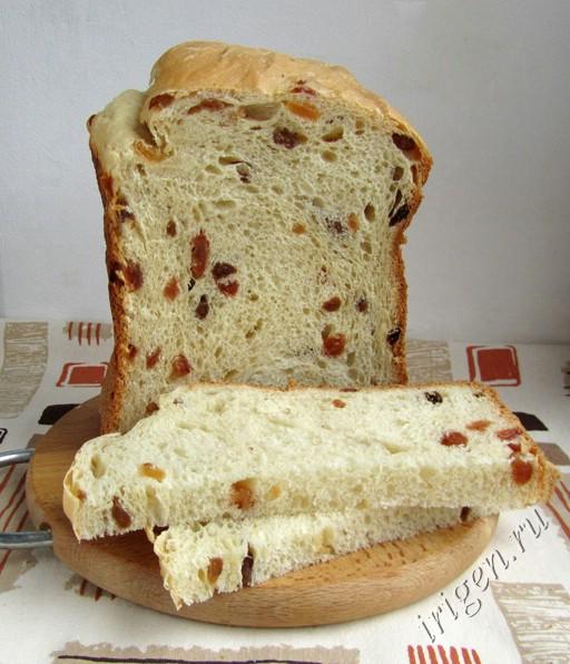 Сдобный хлеб на сметане с изюмом