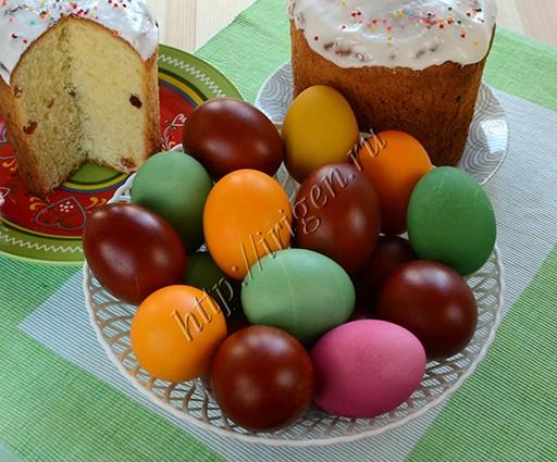яйца крашеные