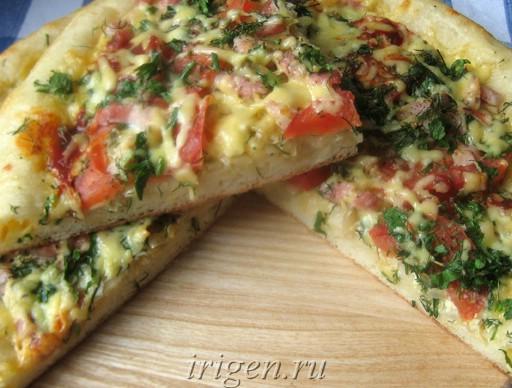 пицца на воде рецепты