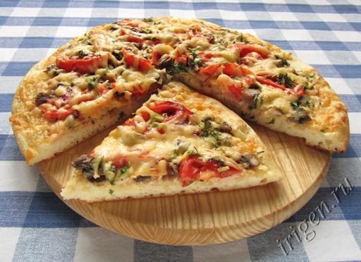 фотография пиццы с грибами