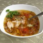 фотография супа куриного с гречкой