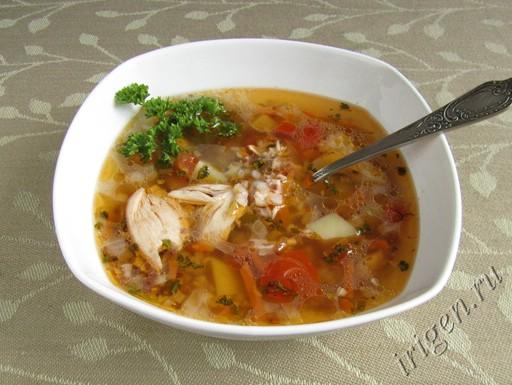 Рецепт монастырского супа с гречкой