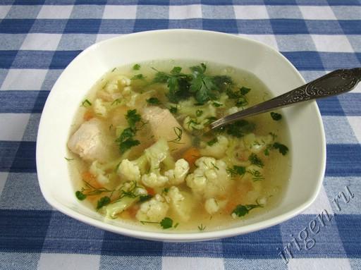 куриный суп с цветной капустой рецепт ч фртр