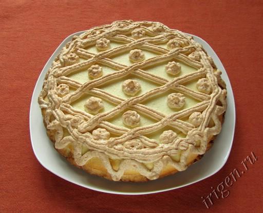фотография пирога с творожной начинкой