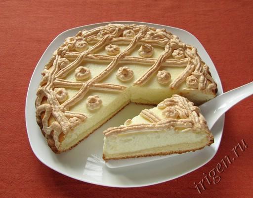 фотография пирога с творогом