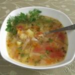 фотография супа овощного с геркулесом