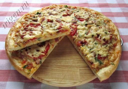 фотография пиццы с кабачковой икрой