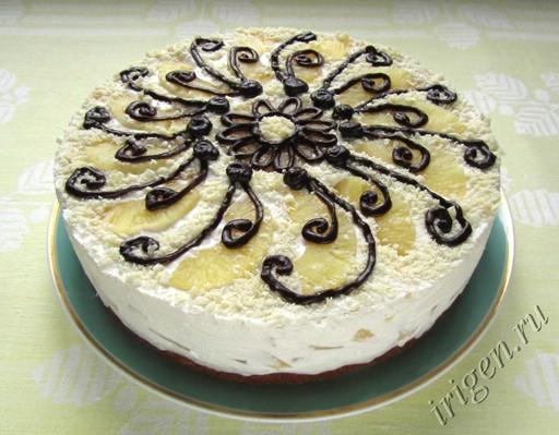 фотография торта Пина-Колада