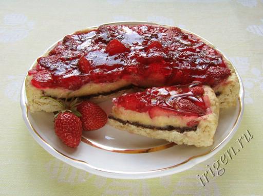 фотография торта Мари с клубникой