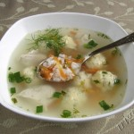 фотография куриного супа с сырными клецками