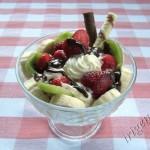 фотография десерта бананово-клубничного