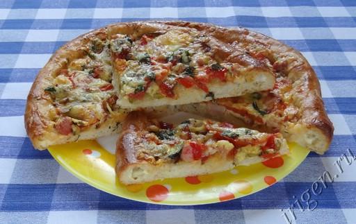 фотография пиццы Сырный край