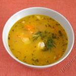 фотография супа куриного золотого