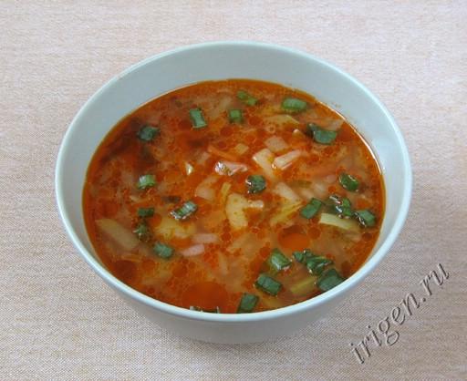 фотография супа с кабачком и рисом