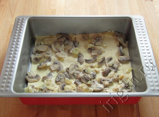 как приготовить лазанью с фаршем и грибами