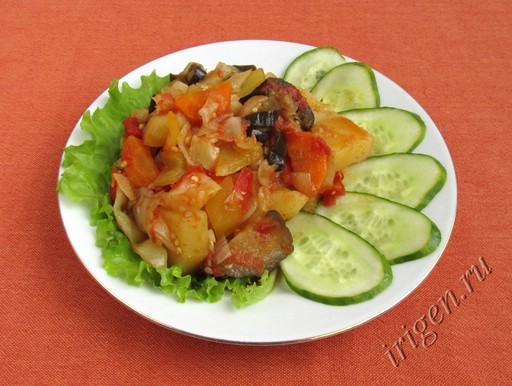 фотография овощного рагу