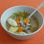 фотография грибного супа с клецками