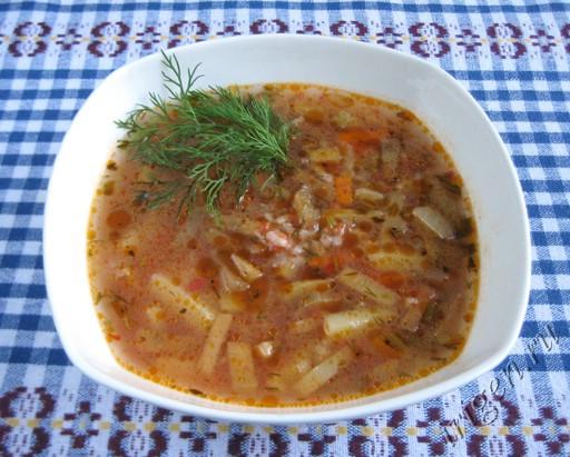 фотография супа с баклажаном