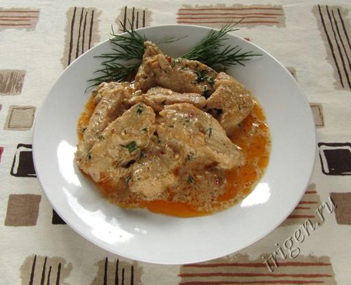 фотография куриной грудки со сливками