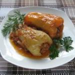 фотография перца фаршированного овощами