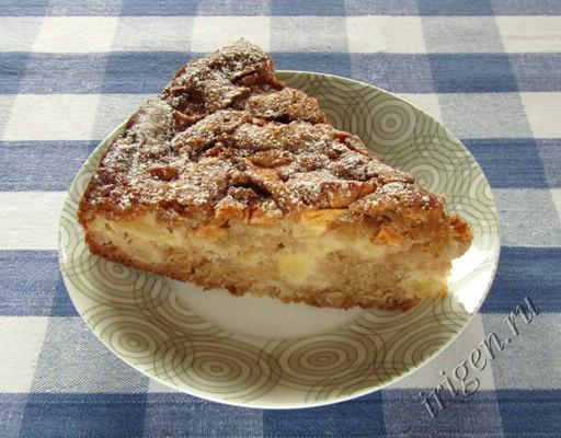 фотография яблочного пирога с корицей