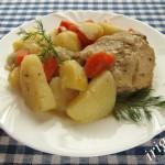 курица с картофелем в мультиварке фото