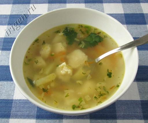 суп с клецками фото