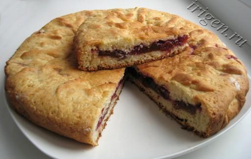 фруктовый пирог с вишней фото