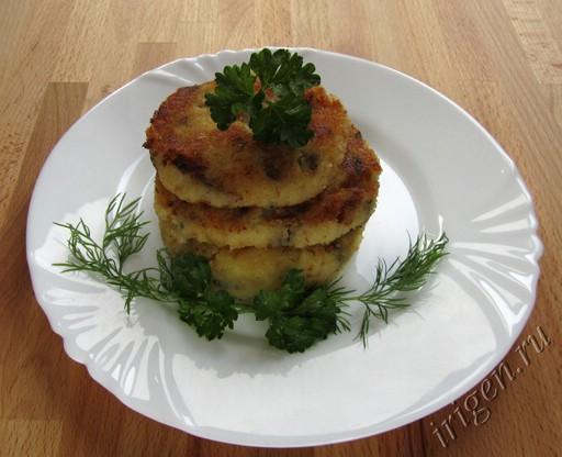 картофельные котлеты с грибами фото