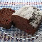 постный шоколадный кекс с клюквой фото