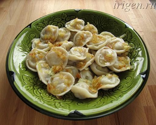 постные пельмени с картофелем и грибами фото