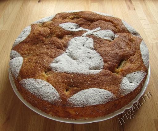 пирог медово-грушевый фото