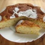 постный медово-грушевый пирог фото