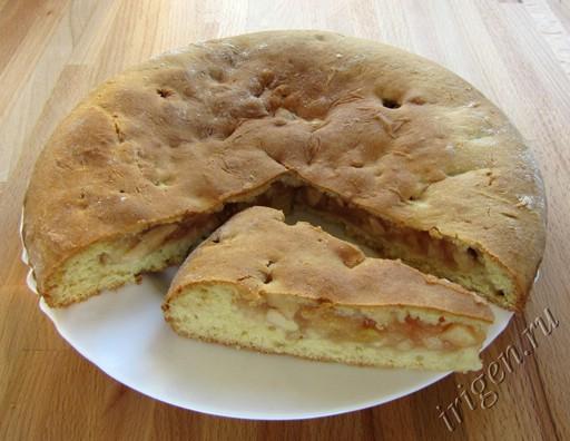пирог фруктовый с яблоками и ананасом фото