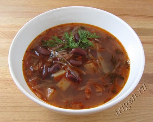 суп с фасолью красной