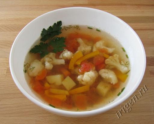 суп овощной супердиетический фото