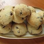 сметанное печенье с кусочками шоколада фото
