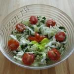 салат зеленый с сельдереем фото