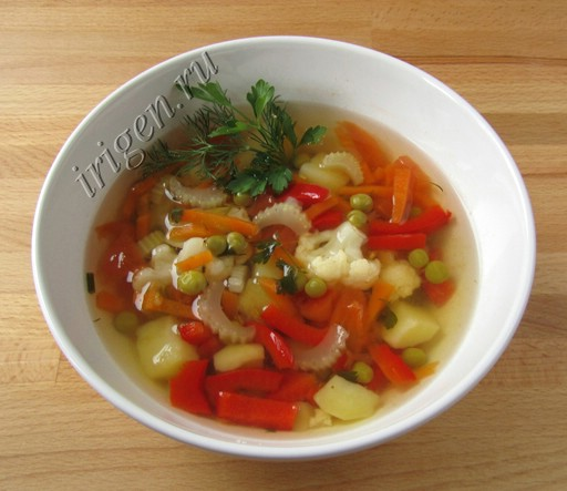 суп супердиетический с горошком фото