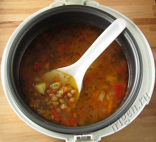 суп чечевичный в мультиварке фото