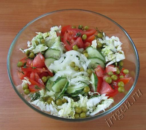 салат овощной фото