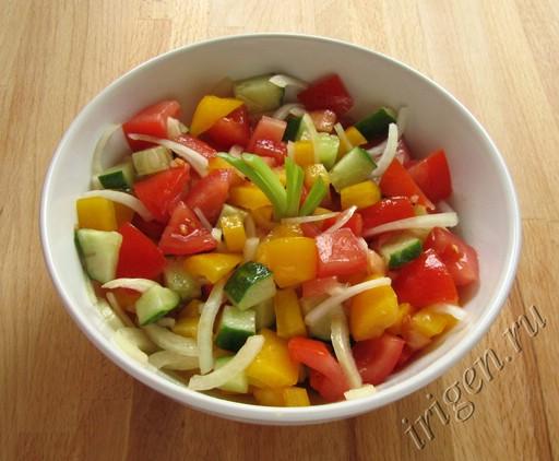 Салат из овощей без майонеза рецепт