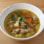 суп с фаршем фото