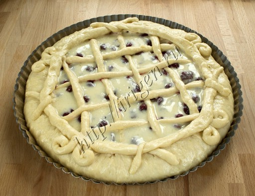 пирог с заливкой